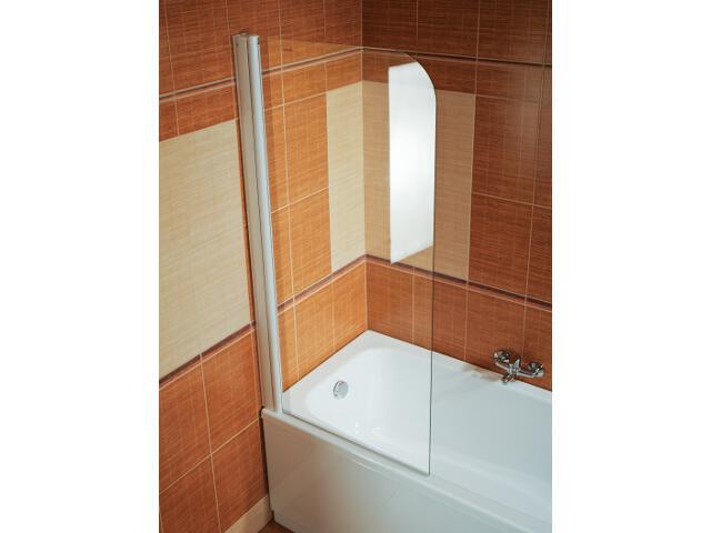 Parawan nawannowy ELEGANCE EVS1-75 lewy profil biały, szkło transparentne 75L30100Z1 Ravak