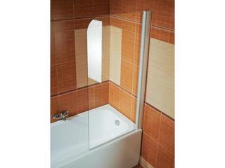 Parawan nawannowy ELEGANCE EVS1-75 prawy profil biały, szkło transparentne 75P30100Z1 Ravak