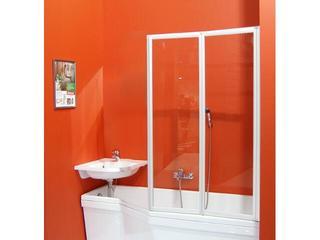 Parawan nawannowy SUPERNOVA VS2 105 profil biały, szkło transparentne 796M0100Z1 Ravak