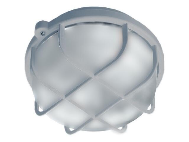 Plafon przemysłowy hermetyczny OKRĄGŁY 1x60W E27 szary klosz matowy PC Lena Lighting