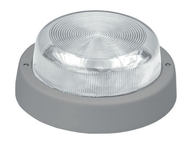 Plafon przemysłowy hermetyczny E27 1x60W szary Lena Lighting