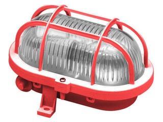 Plafon przemysłowy hermetyczny OVAL 60W E27 230V czerwony Lena Lighting