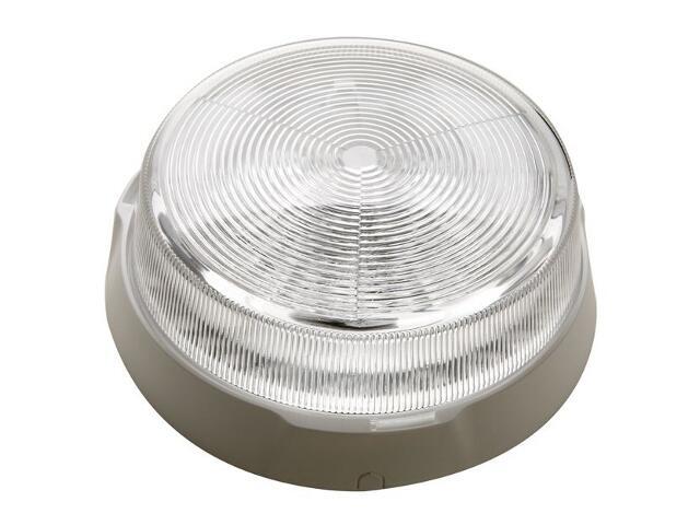 Plafon przemysłowy hermetyczny POINT 1x100W E27 biały klosz przezroczysty Lena Lighting