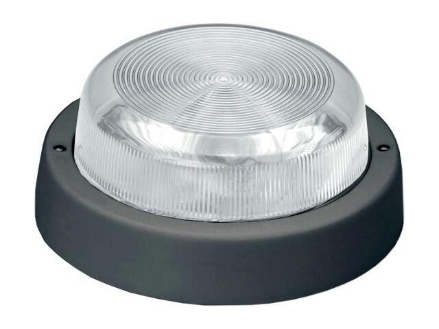 Plafon przemysłowy hermetyczny E27 1x100W czarny klosz szklany Lena Lighting