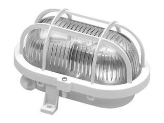 Plafon przemysłowy hermetyczny OVAL 60W E27 230V biały Lena Lighting