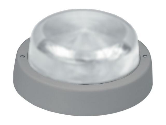 Plafon przemysłowy hermetyczny E27 1x60W szary klosz matowy Lena Lighting