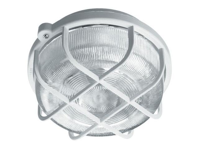 Plafon przemysłowy hermetyczny OKRĄGŁY 1x60W E27 biały klosz PC Lena Lighting