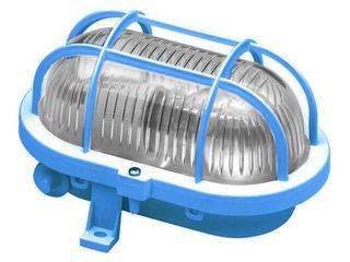 Plafon przemysłowy hermetyczny OVAL 60W E27 230V niebieski Lena Lighting
