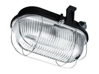 Plafon przemysłowy hermetyczny OVAL 60W E27 230V SIMETAL czarny Lena Lighting