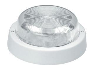 Plafon przemysłowy hermetyczny E27 1x100W biały klosz szklany Lena Lighting
