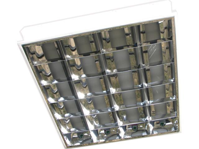 Oprawa rastrowa podtynkowa Raster 4x36W układ elektroniczny OS120146 Skan