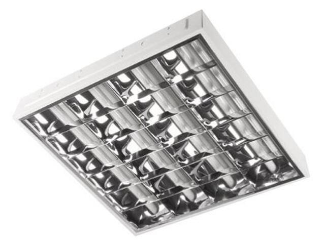 Oprawa rastrowa RASTRA 104PPMK do wbudowania 4x18W z kompensacją biała Elgo
