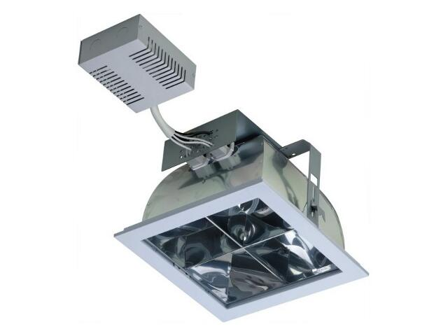 Oprawa downlight DLK 271 CROSS 2x26W IP20 szara Lena Lighting