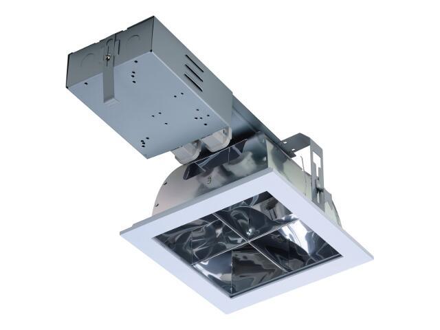 Oprawa downlight DLK 226 CROSS 2x26W IP20 szara Lena Lighting