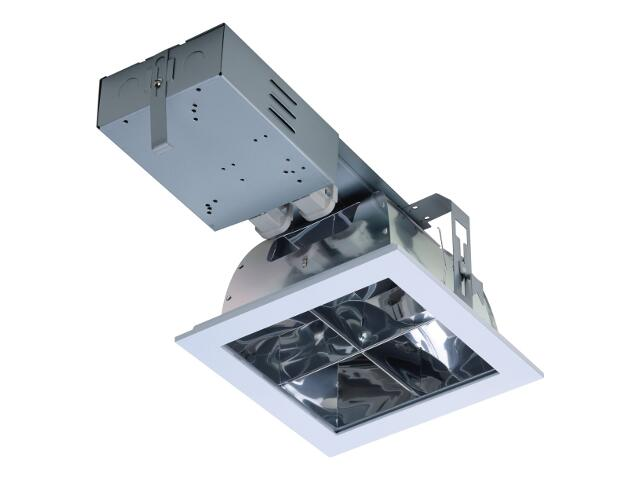 Oprawa downlight DLK 226 CROSS 2x26W IP20 EVG szara Lena Lighting