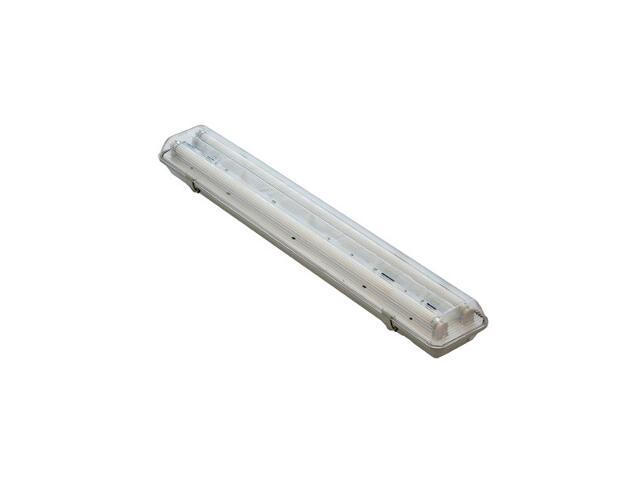 Oprawa świetlówkowa z kloszem pyłoszczelna 2x58W T8 3903A szara ANS