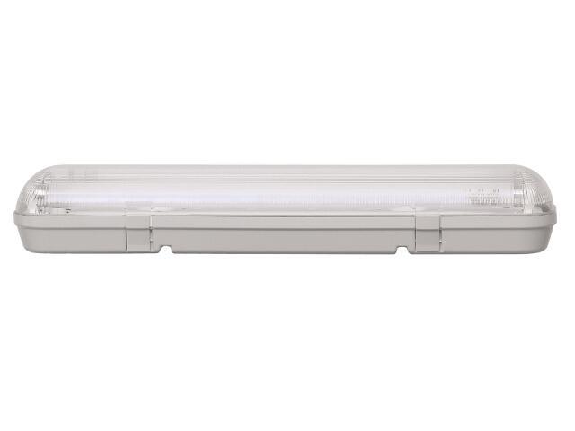 Oprawa świetlówkowa z kloszem CODAR 1x18W T8 230V PC IP65 Lena Lighting