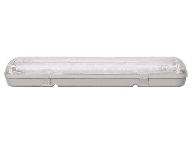Oprawa świetlówkowa z kloszem CODAR 2x18W T8 230V PC IP65 EVG Lena Lighting