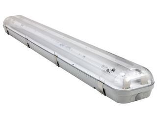 Oprawa świetlówkowa z kloszem CODAR 1x58W T5 230V IP65-klipsy INOX 3-częściowe Lena Lighting