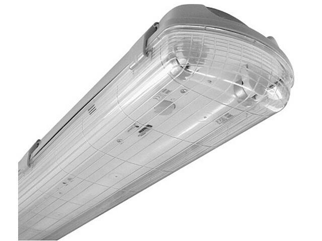 Oprawa świetlówkowa z kloszem HERMETIC 236MK 2x36W z kompensacją szara Elgo