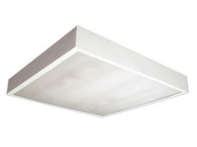 Oprawa świetlówkowa z kloszem OREGA 418 nadtynkowa 4x18W klosz pryzmatyczny biały Elgo