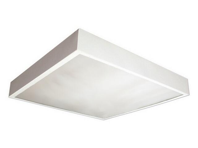 Oprawa świetlówkowa z kloszem OREGA 418 nadtynkowa 4x18W klosz mleczny biały Elgo