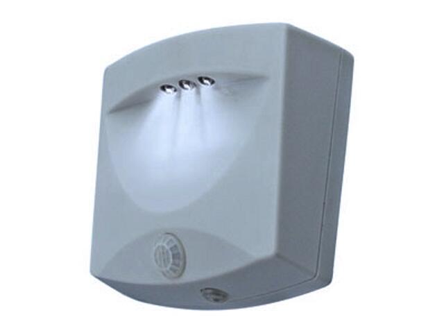 Lampa z czujnikiem ruchu schodowa AMIN RB34B srebrna ANS