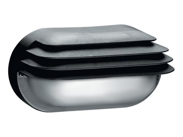 Oprawa podjazdowa OVAL 1x60W E27 z przesłoną klosz matowy czarna Lena Lighting