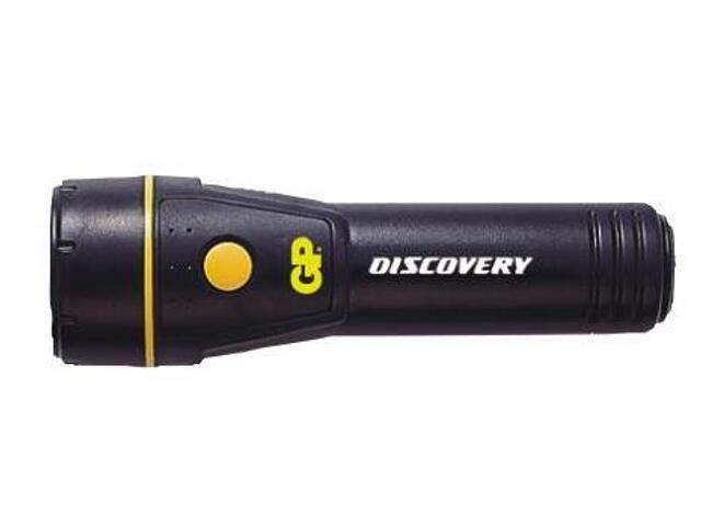 Latarka ręczna z ABS; kryptonowa; 2xD GP Battery