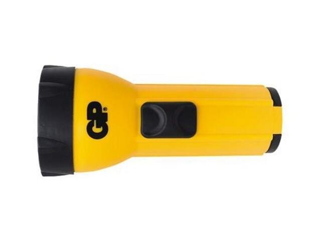 Latarka ręczna z tworzywa; żarówka standardowa; 4xAA torba PCV GP Battery