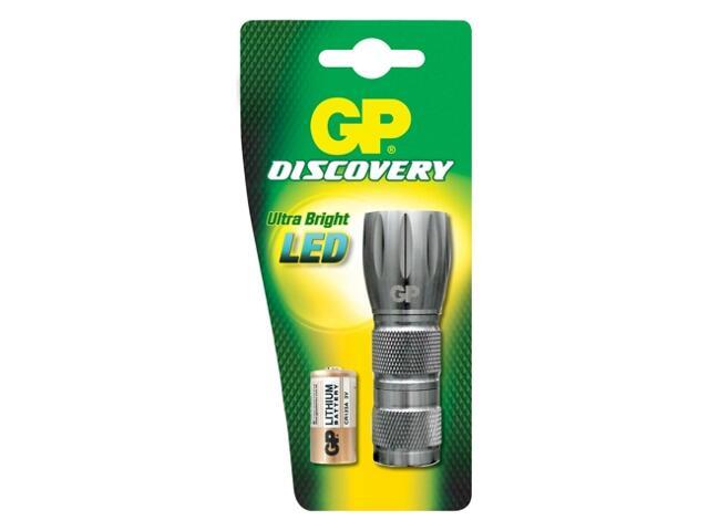 Latarka ręczna z aluminium; diodowa; 1xCR123A GP Battery
