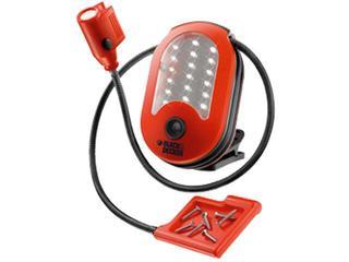 Latarka ręczna 18 diod LED 6xAA elastyczne ramię z 3xLED, tacka magn. BDHL18 Black&Decker