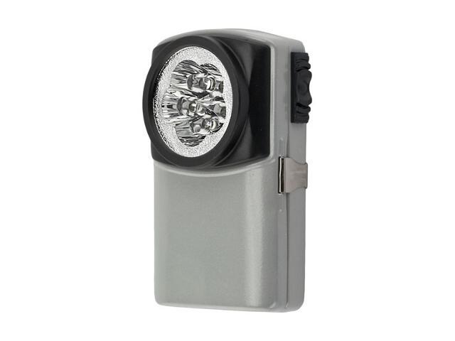 Latarka ręczna LED JUPITER metalowa srebrna ANS