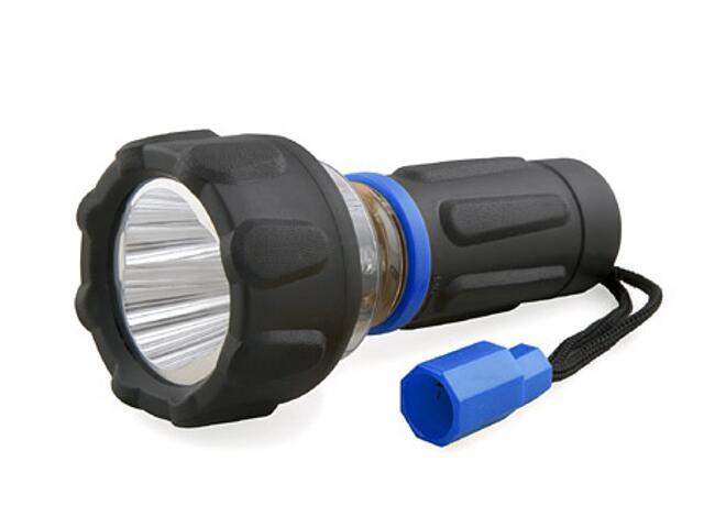 Latarka ręczna Travel Light plastikowa LED, 2 w 1 T200 MacTronic