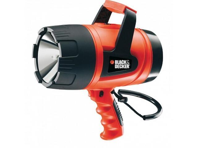 Reflektor halogenowy 12V 6Ah 3-poz.wł. 18-godz.ładowarka BDSL302 Black&Decker