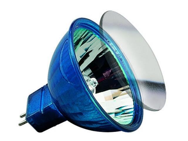 Żarówka halogenowa Happy Color 12V, niebieska GU5,3, 20W Paulmann
