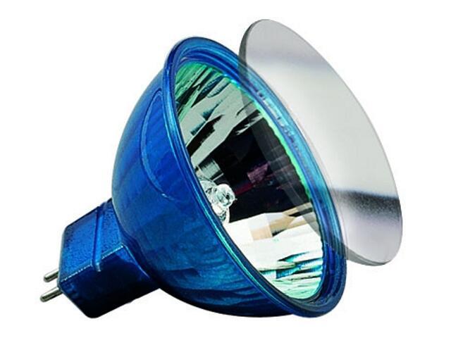 Żarówka halogenowa Happy Color 12V, niebieska GU5,3, 35W Paulmann