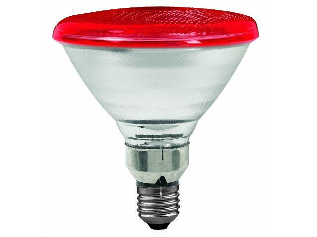 Żarówka halogenowa PAR38 E27 fi 122mm 80W lampa czerwona Paulmann