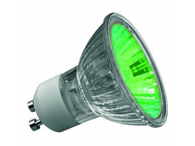 Żarówka halogenowa True Colour GU10 50W zielona Paulmann