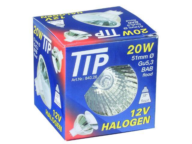Żarówka halogenowa TIP 12V, srebrna, GU5,3, fi 51mm, 20W Paulmann