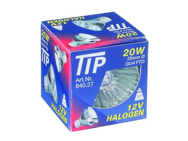 Żarówka halogenowa TIP 1000h 12V, srebrna, GU4, fi 35mm, 20W Paulmann