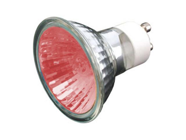 Żarówka halogenowa COLOR 35W GU10 czerwony ANS