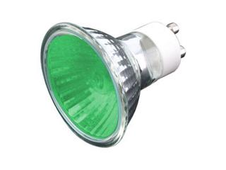 Żarówka halogenowa COLOR 35W GU10 zielony ANS