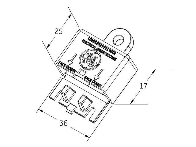 Obudowa WEATHER BOX na przewód do systemu Tetra Contour GE Lighting