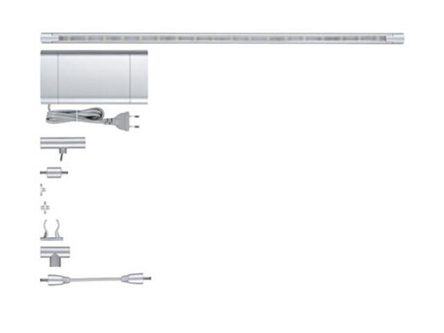 Taśma LED jednokolorowa Moduł LED system bazowy 3x40cm 3x1,8W 12V chrom mat metal Paulmann