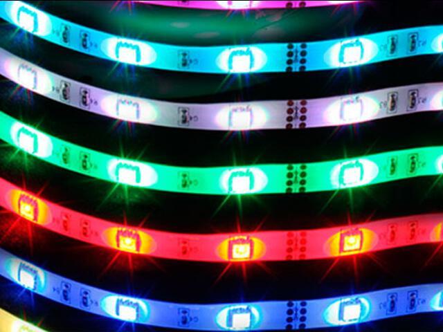 Taśma LED wielokolorowa RGB RGB multikolor 300 5050 SMD IP54 5m Max-led
