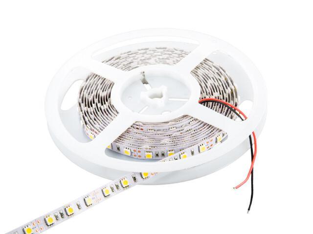 Taśma LED jednokolorowa 5m 60szt/m 5050 14,4W/m bez konektora ciepła barwa Whitenergy