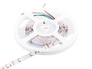 Taśma LED wielokolorowa RGB 5m 30szt/m 5050 7,2 W/m RGB bez konektora RGB Whitenergy