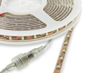 Taśma LED jednokolorowa 5m 30szt/m 2,4W/m 12V IP67 wodoodporna chłodna barwa 06767 Whitenergy