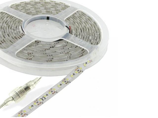 Taśma LED jednokolorowa 5m 120szt/m 8W/m 12V IP65 wodoodporna ciepła barwa 06883 Whitenergy